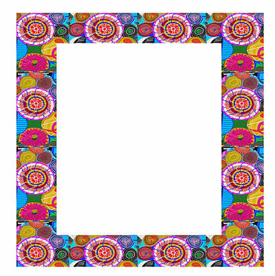 Chakra Painting - Border Frames Square Buy Any Faa Produt Or Download For Self-printing  Navin Joshi Rights Managed Im by Navin Joshi