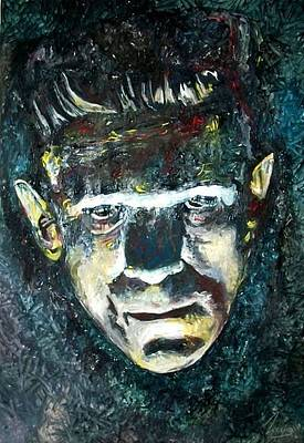 Science Fiction Mixed Media - Boris Karloff Frankenstein Monster by Marcelo Neira