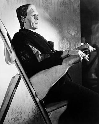 Frankenstein Photograph - Boris Karloff In Frankenstein  by Silver Screen