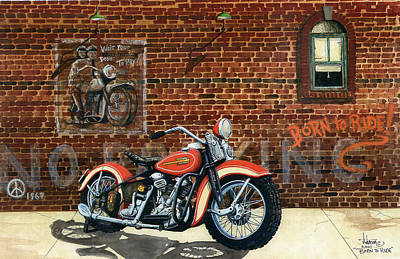 Born To Ride Art Print by Larry Johnson