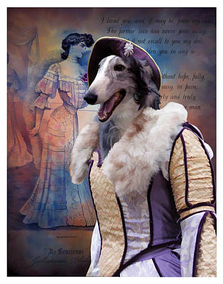Painting - Borzoi - Russian Wolfhound Art Canvas Print  by Sandra Sij
