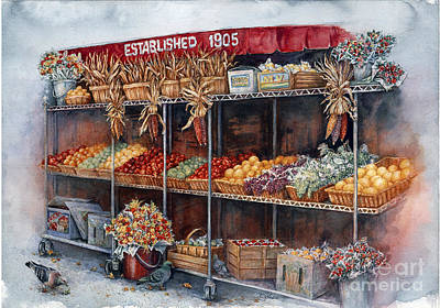 Painting - Boston Market by Sher Sester