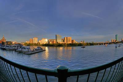 Boston Skyline From Memorial Drive Art Print by Joann Vitali