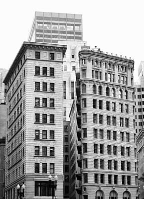 Photograph - Boston Skyscrapers Black And White by Staci Bigelow