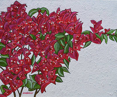 Painting - Bougainvillea by Donna  Manaraze