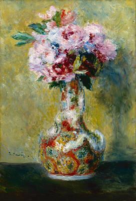 Bouquet In A Vase Renoir Painting - Bouquet In A Vase by Pierre-Auguste Renoir
