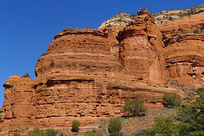 Photograph - Boynton Canyon Rock Face by Denise Mazzocco