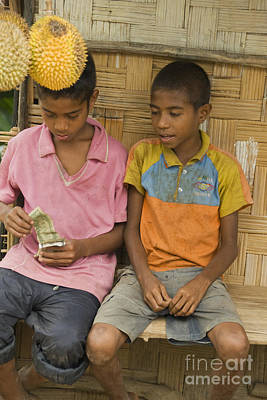 Photograph - Boys Selling Durians In Timor-leste by Dan Suzio