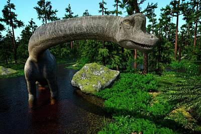 Brachiosaurus Photograph - Brachiosaurus by Roger Harris