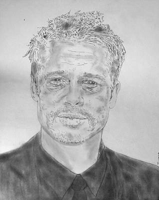 Troy Smith Drawing - Brad Pitt by Dan Twyman