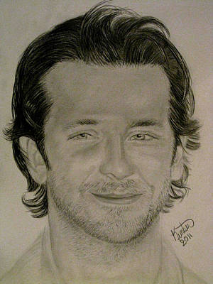Drawing - Bradley Cooper by Kimber  Butler