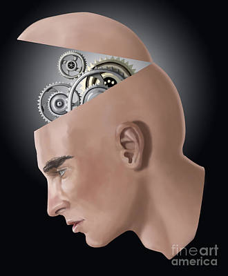 Brain Cogs Art Print by Spencer Sutton