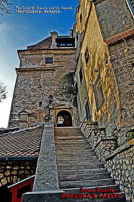 Transylvania Digital Art - Bran Castle - Dracula's Castle. by Andy Za