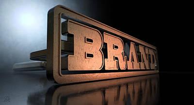 Branding Brand Concept Art Print