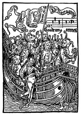 Brant Ship Of Fools Art Print by Granger