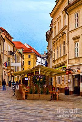Photograph - Bratislava Old Town by Les Palenik