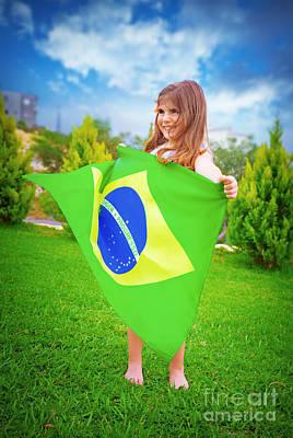 Brazilian Football Team Fan Art Print by Anna Om