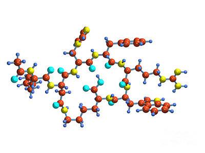 Aphrodisiac Photograph - Bremelanotide Drug Molecule by Dr. Mark J. Winter