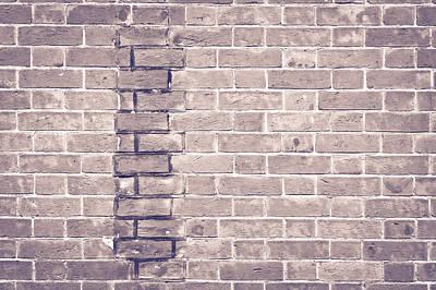 Brick Wall Repair Art Print