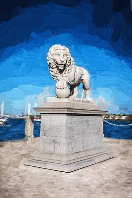 Florida Bridge Photograph - Bridge Of Lions St Augustine Florida Painted  by Rich Franco