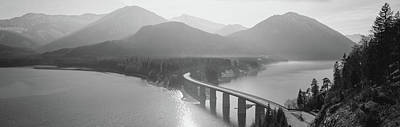 Bridge Over Sylvenstein Lake, Bavaria Art Print by Panoramic Images