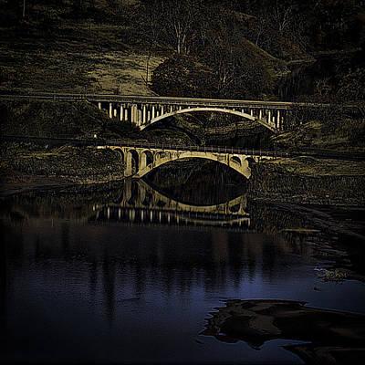 2 Bridges At Dusk Art Print