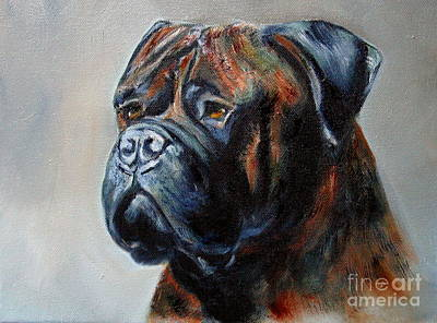 Brindle Girl Art Print