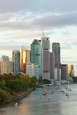 Viewpoint Photograph - Brisbane Skyline, Queensland, Australia by Peter Adams