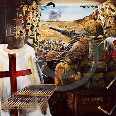 Sottish Painting - British Crusader by John Palliser