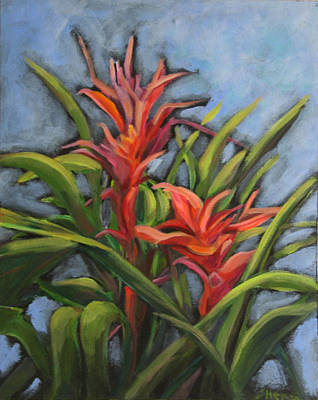 Painting - 2 Bromeliads by Sherry Harris Erb
