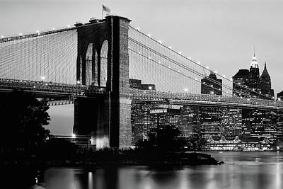 Photograph - Brooklyn Bridge Across The East River by Panoramic Images