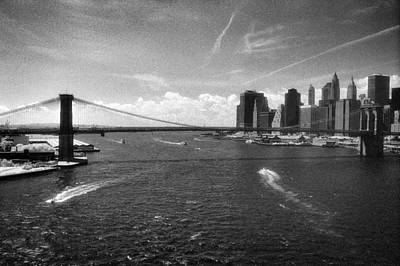 Photograph - Brooklyn Bridge Infrared by Dave Beckerman