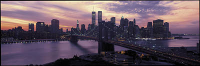 Eve Photograph - Brooklyn Bridge Manhattan New York City by Panoramic Images