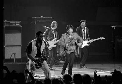 Bruce Springsteen And The E Street Band Art Print by Joe  Gliozzo