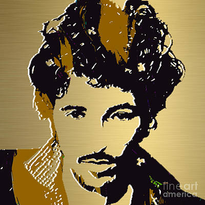 Springsteen Mixed Media - Bruce Springsteen Gold Series by Marvin Blaine