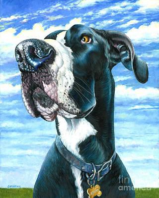 Great Dane Oil Painting - Bruno by Catherine Garneau