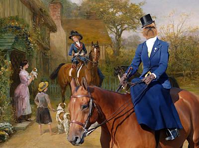 Griffon Painting - Brussels Griffon - Belgium Griffon Art Canvas Print  by Sandra Sij
