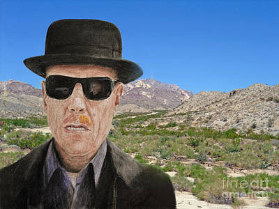 Mixed Media - Bryan Cranston As Walter White In Breaking Bad by Jim Fitzpatrick