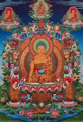 Vajrayana Painting - Buddha Shakyamuni by Art School
