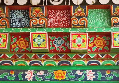 Buddhist  Monastery In Sikkim India Art Print by Jaina Mishra