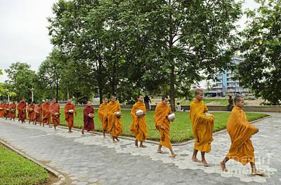 Buddhist Monks In Battambang Cambodia Art Print