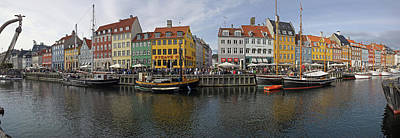 Buildings Along A Canal With Boats Art Print by Panoramic Images