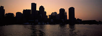 Boston Financial District Photograph - Buildings At The Waterfront, Boston by Panoramic Images