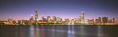 Buildings At The Waterfront, Chicago Art Print by Panoramic Images