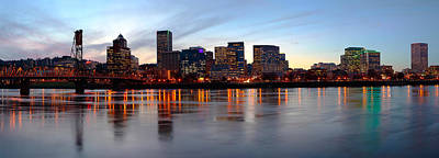 Evening Scenes Photograph - Buildings At The Waterfront, Portland by Panoramic Images