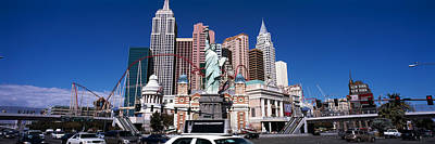 Statue Of Liberty Replica Photograph - Buildings In A City, New York New York by Panoramic Images