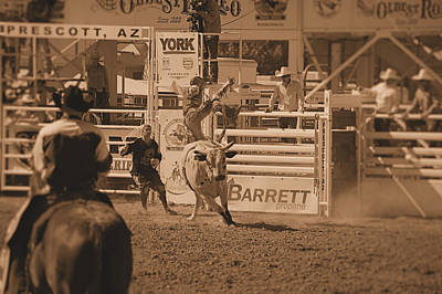 Prescott Photograph - Bull Rider by Stormys Unique   Creations