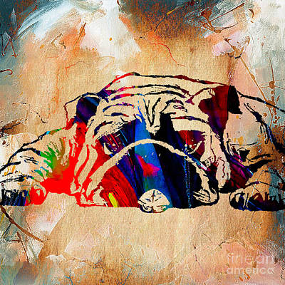 Bulldog Collection Art Print by Marvin Blaine