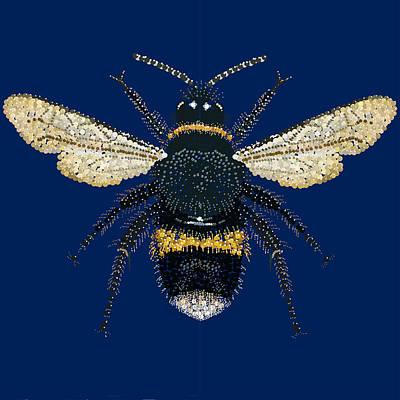 Bumblebee Bedazzled Art Print by R  Allen Swezey