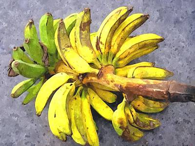 Fruit Tree Art Painting - Bunch Of Banana by Lanjee Chee